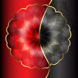 Red and black flower Stock Photography