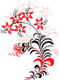Red and black flower ornament Royalty Free Stock Photography