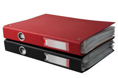 Red and black folder. Two red and black folder on a white background Royalty Free Stock Photo