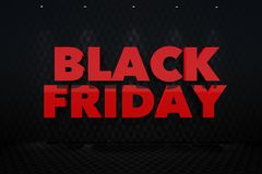 Red Black Friday Lettering Royalty Free Stock Image