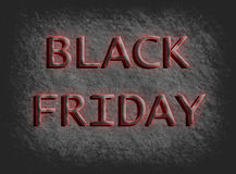Red Black Friday on stone rock background, Stock Photos