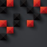 Red and black geometric background. Royalty Free Stock Photos