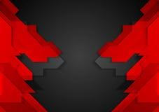 Red black geometric corporate background Stock Photos