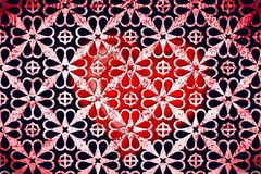 Red and black geometrical wallpaper Stock Photo