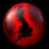 Red and black globe Stock Image