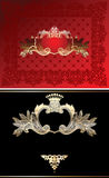 Red, Black And Gold  Ornate Background Stock Images