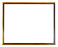 Red, black and gold painted narrow picture frame Royalty Free Stock Image