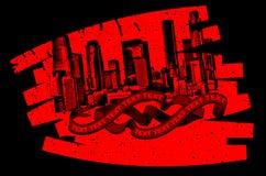 Red Black Grunge Graffiti Banner Royalty Free Stock Image