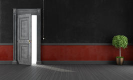 Red and black grunge home entrance Stock Image