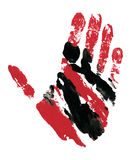 Red and Black Hand Track Royalty Free Stock Photo