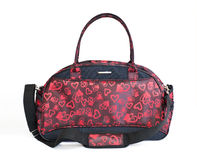 Red and black handbag Royalty Free Stock Image
