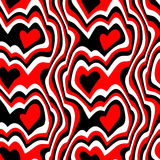 Red black hearts Royalty Free Stock Images