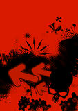 Red and black illustration Stock Image