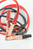 Red and black Jumper cable isolated on white background. Stock Photography