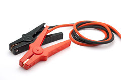 Red and Black Jumper cables Royalty Free Stock Images