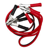 Red and black jumper cables Stock Photos