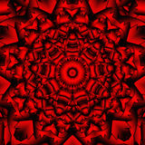 Red black kaleidoscope. Red black mandala kaleidoscope for relax time Stock Images