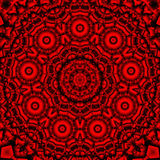 Red black kaleidoscope Stock Photography