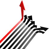 Red black line arrow. Image with hi-res rendered artwork that could be used for any graphic design Stock Photos