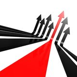 Red black line arrow Royalty Free Stock Photography