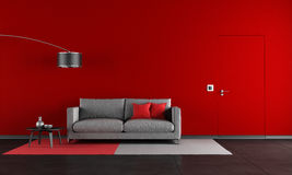 Red and black living room Royalty Free Stock Photos