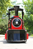 Red and black locomotive Royalty Free Stock Images