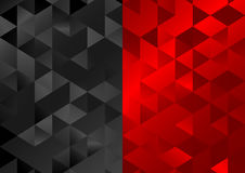 Red black low poly triangles mosaic background stock illustration