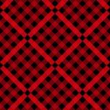 Red and Black Lumberjack plaid seamless pattern vector illustration