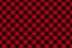 Red Black Lumberjack plaid seamless pattern. Texture for - plaid, tablecloths, clothes, shirts, dresses, paper, bedding, blankets, quilts and other textile stock illustration