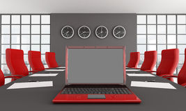 Red and black meeting room Stock Photography
