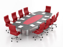 Red and black meeting table Royalty Free Stock Images