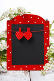 Red and black memo board Stock Images