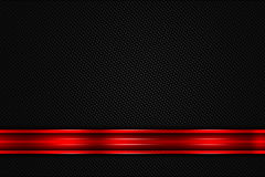 Red and black metal background. Red and black chrome carbon fiber. metal background and texture. 3d illustration Royalty Free Stock Images