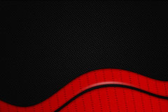 Red and black metal background. Red and black chrome carbon fiber. metal background and texture. 3d illustration Royalty Free Stock Photo