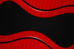 Red and black metal background. Red and black chrome carbon fiber. metal background and texture. 3d illustration Stock Photo