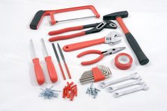 Red and black metal tools  Stock Image
