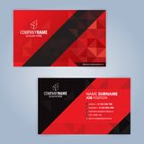 Red and Black modern business card template Royalty Free Stock Photos