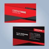 Red and Black modern business card template Stock Photography