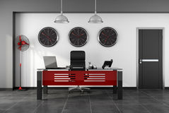 Red and black modern office Stock Photography