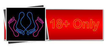 18 Only Red Black Neon Stock Image
