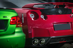 Red-black Nissan GT-R tuning Royalty Free Stock Images