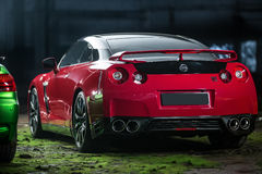 Red-black Nissan GT-R tuning Stock Image