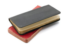 Red and black notebooks Royalty Free Stock Photos