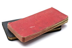Red and black notebooks Stock Photography