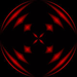 Red and Black Orb. A geometric background design Stock Image