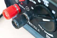 Red and Black Output Connector  Stock Photos