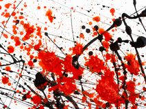 Red and black Paint Drips on White background.  royalty free stock photo