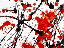 Red and black Paint Drips on White background.  royalty free stock photos