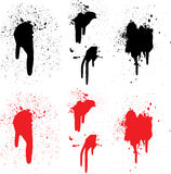 Red & Black Paint and Splats Royalty Free Stock Photography