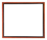 Red and black painted narrow wooden picture frame Royalty Free Stock Photography